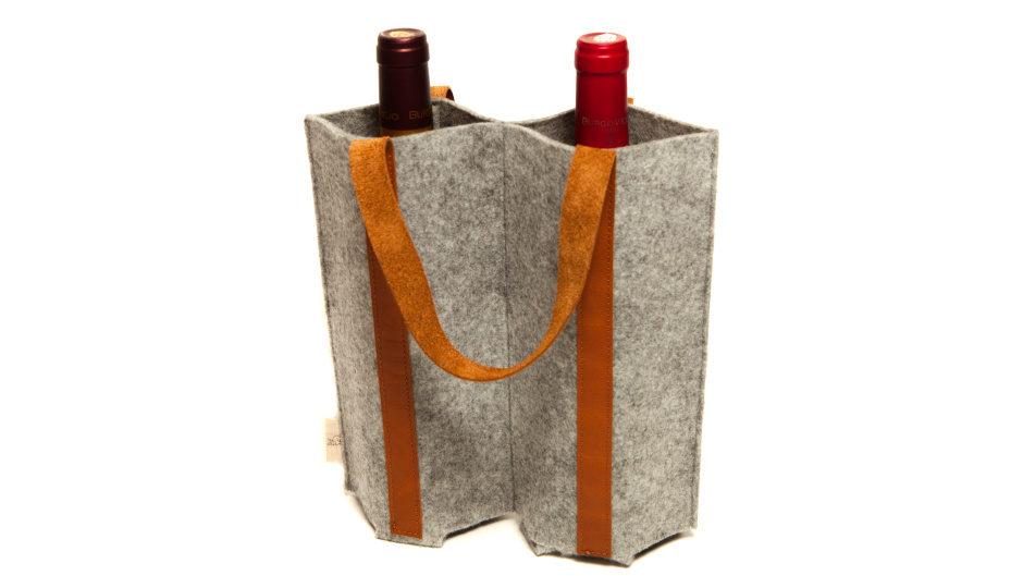 Футляр для вина из войлока