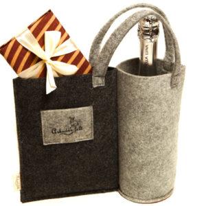 Подарочная упаковка для вина из войлока