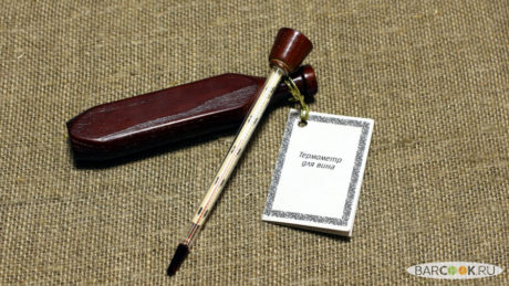 Термометр для вина в деревянном футляре