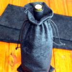 Подарочный мешочек из черного бархата