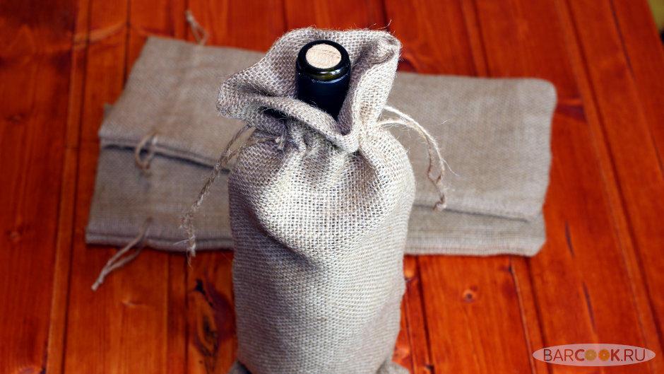 Подарочный мешочек из мешковины