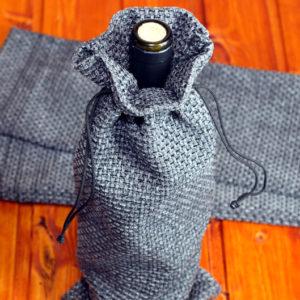 Подарочный мешочек из рогожки