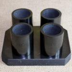 Набор стопок (рюмок) из шунгита