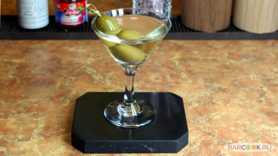 Коктейль Сухой Мартини (Dry Martini) рецепт