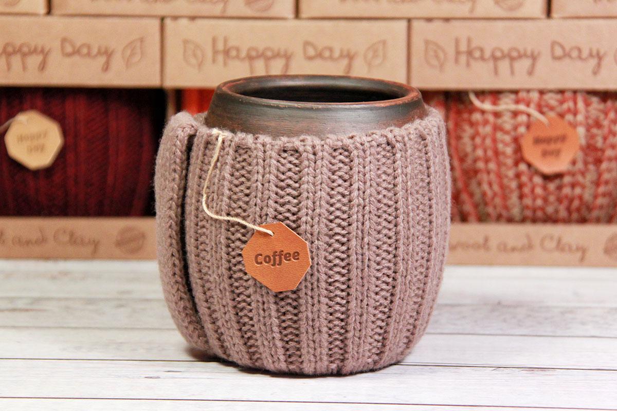 глиняная кружка для чая ручной работы