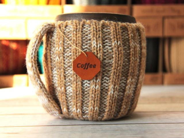 глиняная кружка для кофе ручной работы