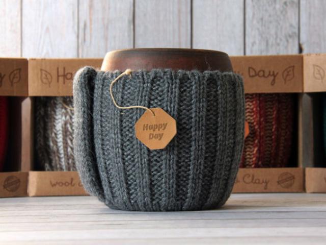 глиняные кружки для кофе ручной работы