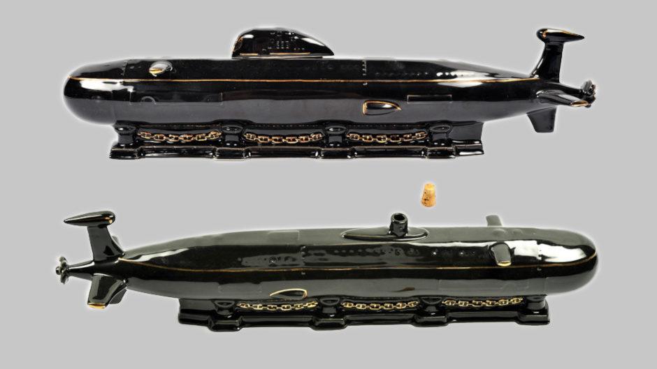 Фарфоровый штоф в виде подводной лодки