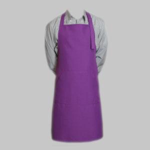 Фартук из габардина фиолетовый ручной работы