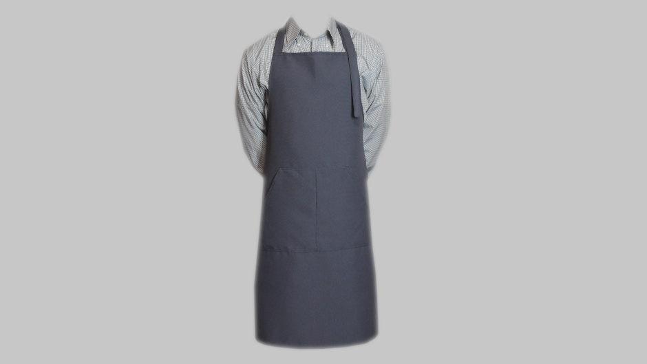 Фартук из габардина серый ручной работы