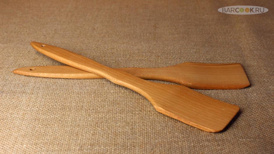 Кухонная лопатка из массива бука с пропиткой