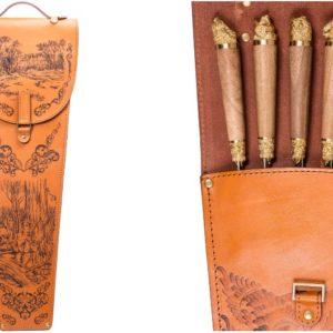 Набор подарочных шампуров с деревянной ручкой в виде зверей и птиц