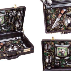 Набор подарочный в дипломате-кейсе на 6 персон с отделкой ручной работы