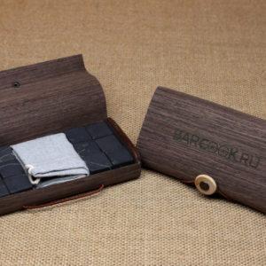 Камни для виски из шунгита в подарочной упаковке