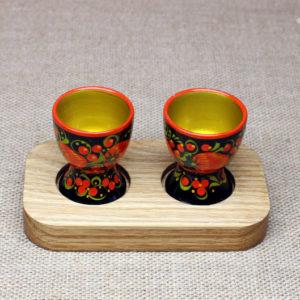 Набор стопок с хохломской росписью ручной работы