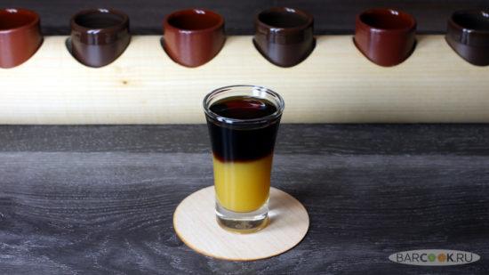Коктейль Черный Стрелок (Black Shooter) Рецепт