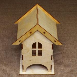 Чайный домик для хранения чайных пакетиков из дерева