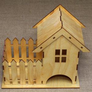 Чайный домик с забором для хранения чайных пакетиков