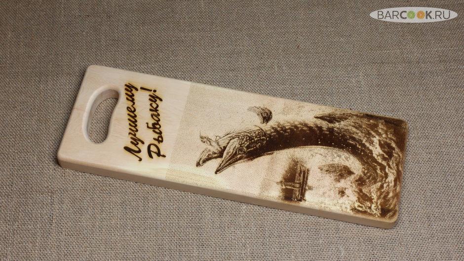 Разделочная доска для рыбы из массива сибирского кедра