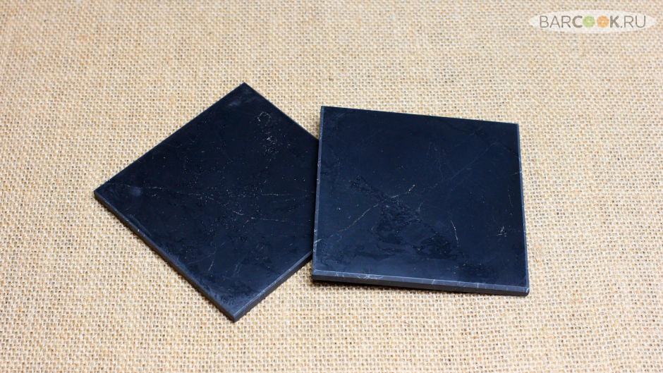 Плитка из шунгита полированная квадратная