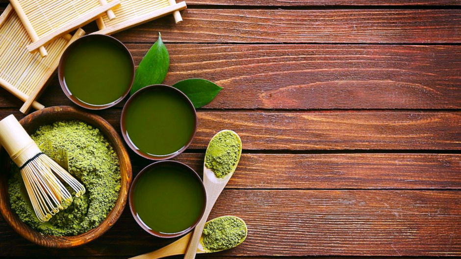 Матча или Маття японский порошковый зеленый чай