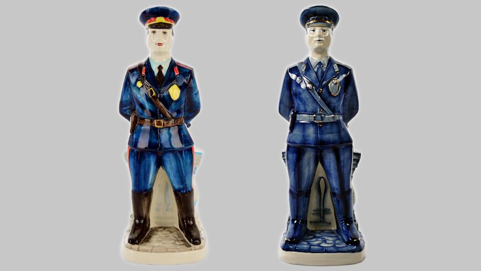 Фарфоровый штоф в виде полицейского